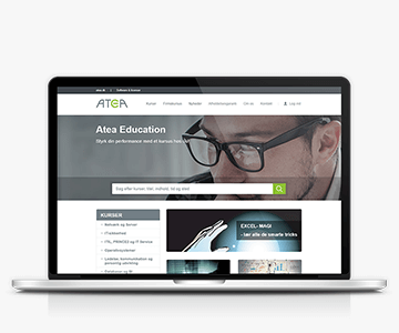 Atea – sale of courses and service portal